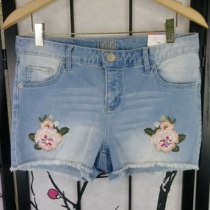 🌼 NEW Justice Plus Sequined Denim Jean Shorts